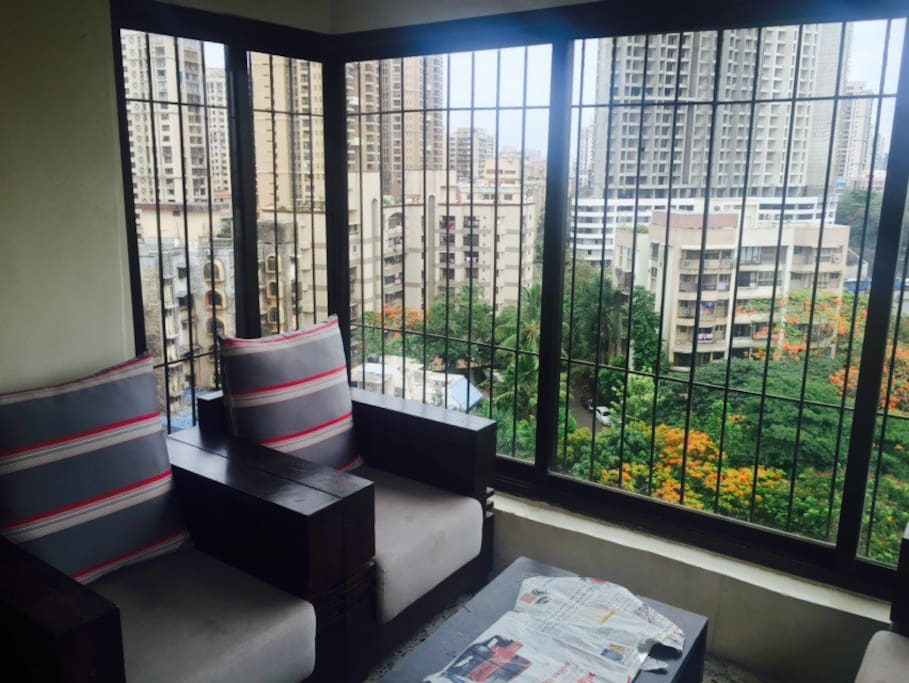 100sqft Private Balcony attached to your room