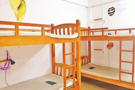 三亚榴莲青年旅舍(蜈支洲岛店)男生多人间的一个床位 - Dorm