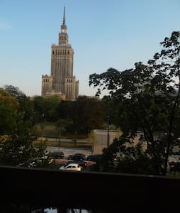Room view the view over Palace of Culture - Warszawa - Apartment