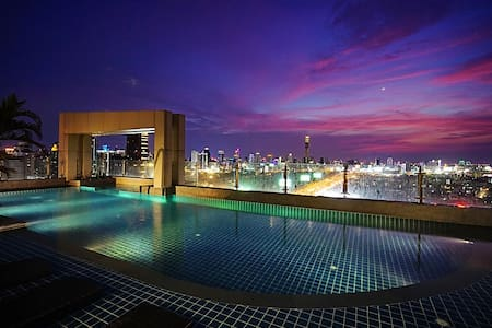 D Fantastic City Airport Link MRT Rama9 Nice View - Bangkok - Apartment