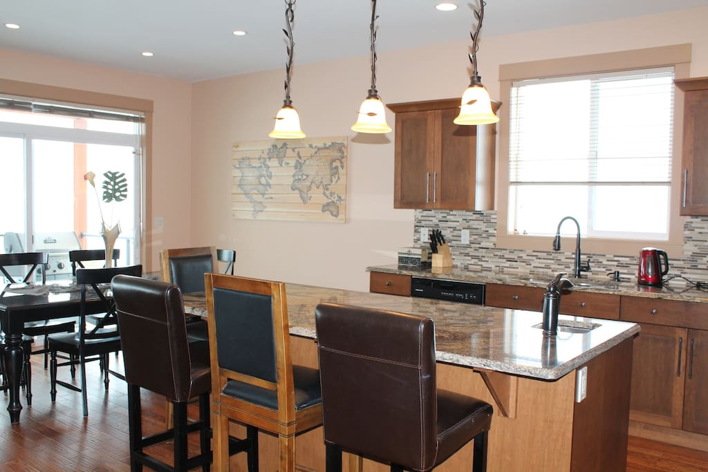 Dream kitchen with great dining spaces at the Island or Dining Table!