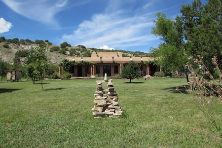 Southwestern style adobe home - Huis