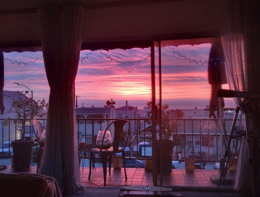 Amazing Sunsets from the comfort of the living room.