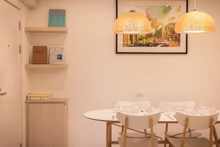 2Bdrm/MRT/DMK Airport/Free Wifi/Pool/Kitchen/4ppl - Nonthaburi - Condominio
