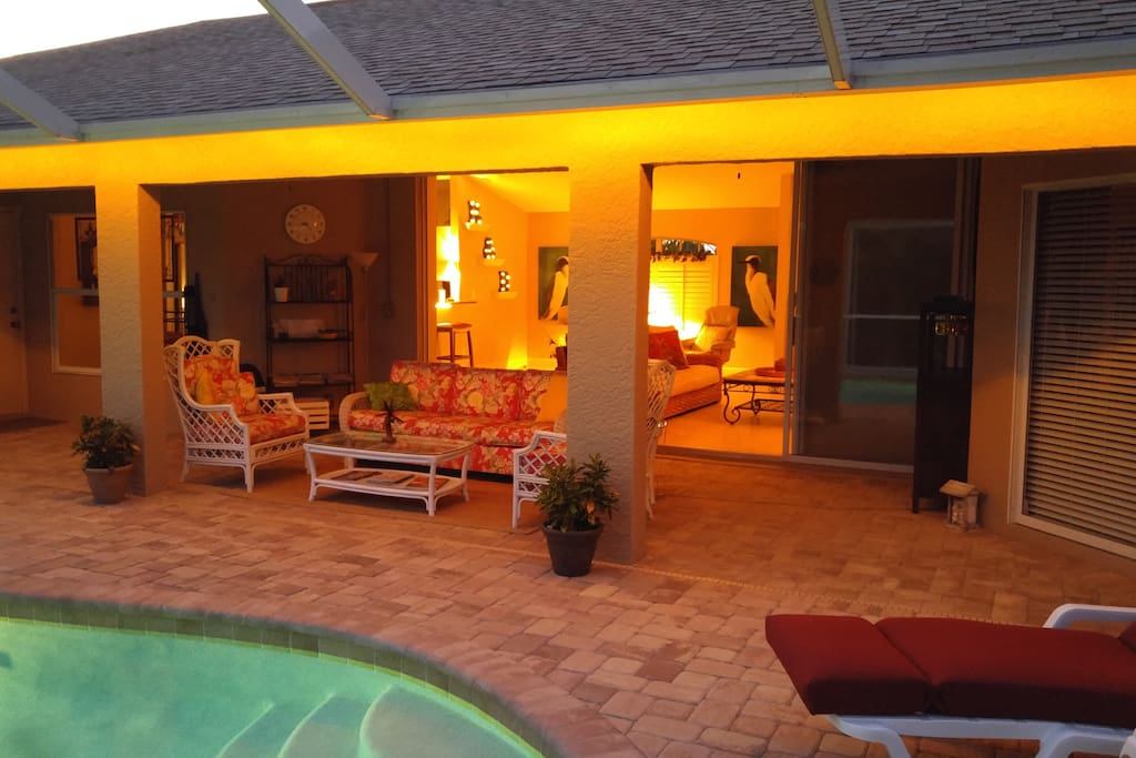 Lanai and pool area open to great room - beautiful outdoor SW Florida living!