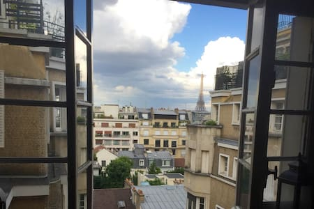 Great View on Eiffel Tower **** - Parijs - Appartement