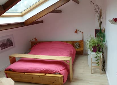 nice house with fire place and room with sky view - Corbeil-Essonnes - Maison