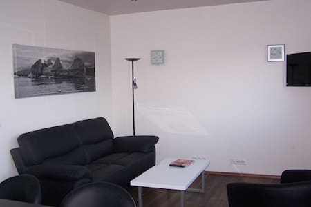 Apartment located in Mosfellsbær. The view of the Esja Mountaincity,centre is within 15 minutes' drive. Mosfellsbaer Swimming Pool is 5 minutes from apartment.  The apartments will provide you with a flat-screen TV .There is a full a kitchenette wi
