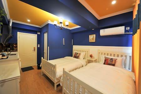 梦幻蓝双床房 - Chengdu - Apartment