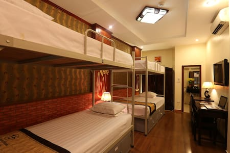 - Room size: 35 sq.m. It has 4 bunk beds, capacity 4 adults. - Room rate is inclusive of breakfast, tax, service charge and internet.