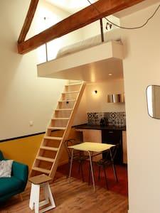 Grand studio-mezzanine hyper centre - Apartment