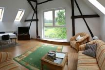 Ruhige Wohnung umgeben von Natur und doch zentral