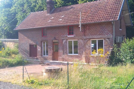 maison en brique en Normandie - Huis