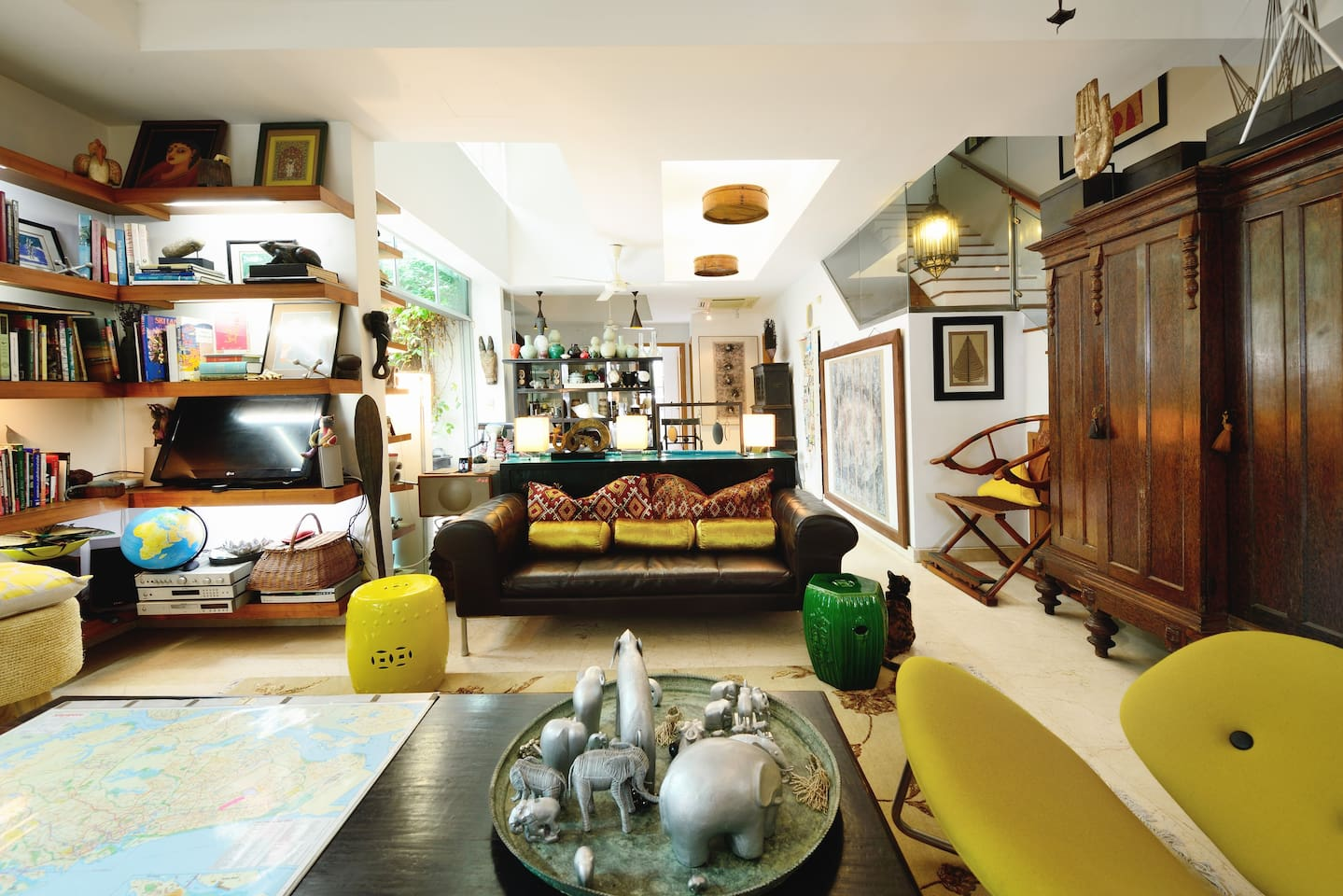 """My living room.  """"The house has a great location (very close to metro by which you can easily reach City Hall and Marina Bay, also, the airport), exclusive design with lot of authentic details. The place is very clean, nice, green and calm"""" - Solveiga,  Dec 2015"""