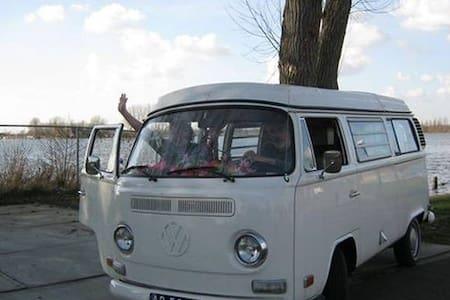 vintage VW hippiebus near amsterdam - Trailer