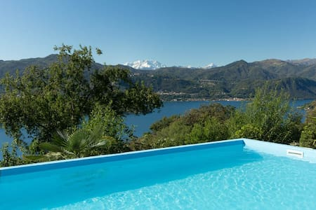 Dolce Vita with pool and lake view - Lortallo