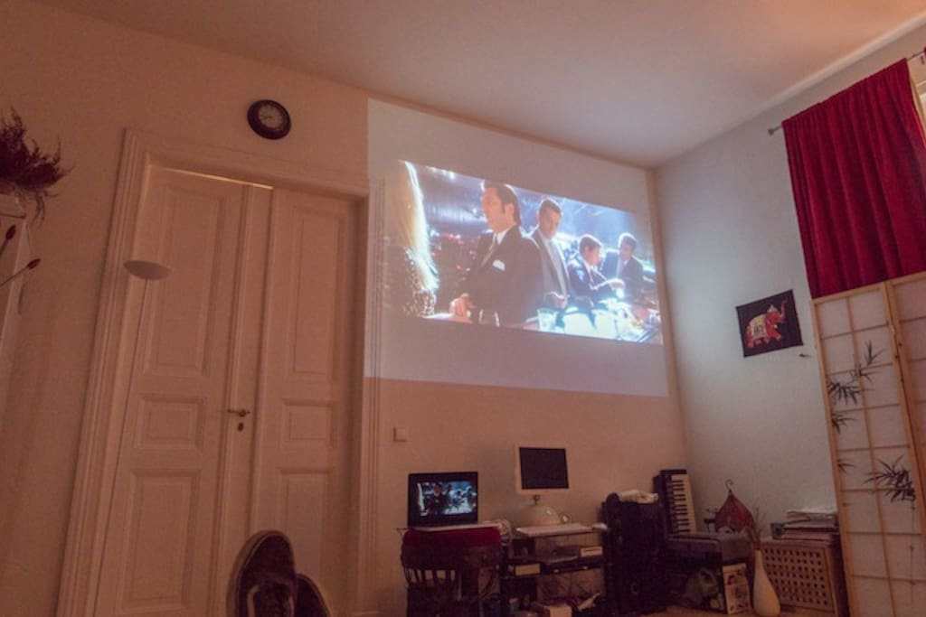Home Cinema with HDMI conector for Computer, Console, DVD, etc. (taken from the bed)