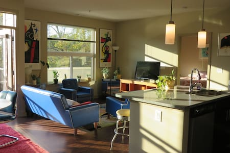 Modern 1 Bedroom Cheerful Apt in Downtown Decatur - Decatur - Apartamento