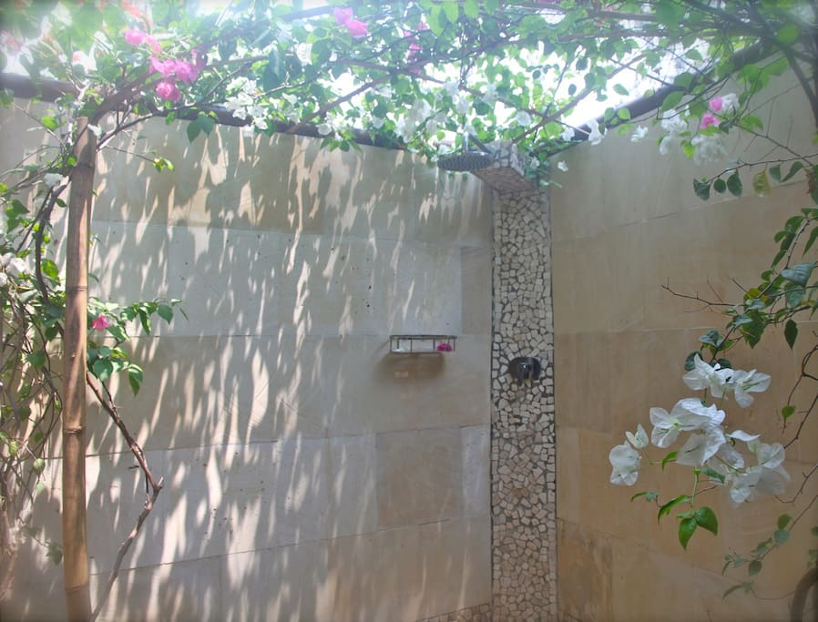 Deluxe Beach Bungalow garden shower
