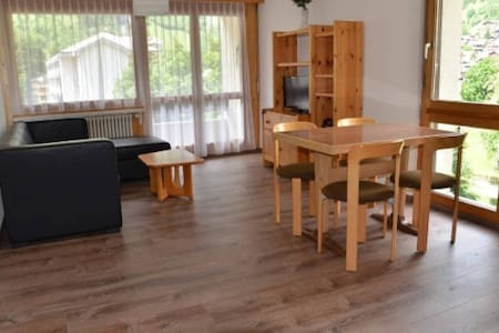 Modern 1-Bedroom Apartment next to LeukerbadTherme - Leukerbad - Appartement
