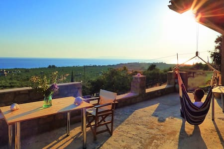 """ALONI"" Stone seaside villa with breathtaking view - House"