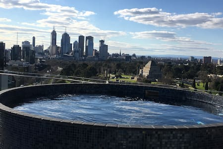 Large room queensize bed, bathroom free SPA access - Melbourne - Appartement