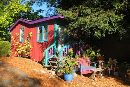 Sunny private cabin in redwood country. - Sebastopol - Blockhütte