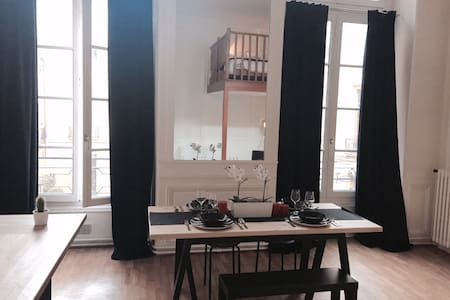 THE FLAT IS A BIG LOFT, VERY GOOD SPACE, WITH AN OPEN KITCHEN, BED IN MEZZANINE, YOU WILL FEEL LIKE AT HOME AND HOPE HAVE A REAL PARISIENN EXPERIENCE…I WILL PROVIDE EVRYTHING YOU NEED..THE LOCATION IS IN THE MARAIS, BEST AREA IN PARIS