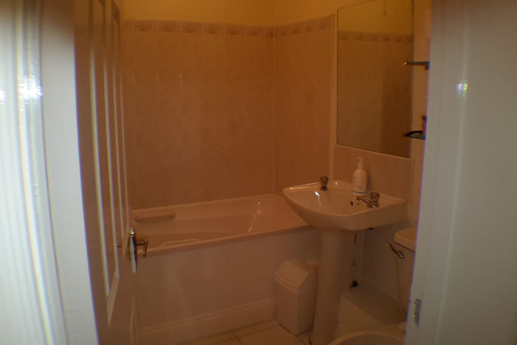 Large spacious bathroom.