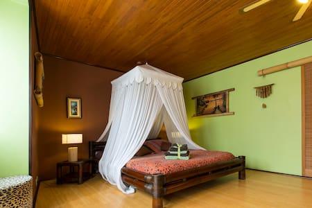"""Chambre avec salle de bain privée """"Lodge Bambou"""" - Pensione"""