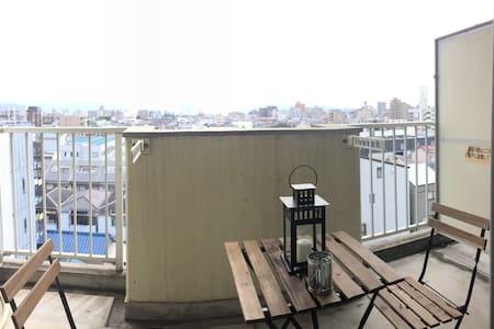 Graet balcony for beer,Easy access, - Ōsaka-shi - Wohnung