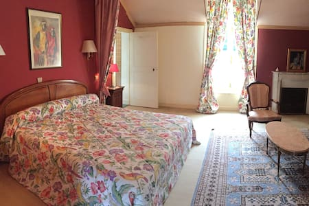 """Château de Montgoger """"Chambre Perroquets"""" - Saint-Épain - Gästehaus"""