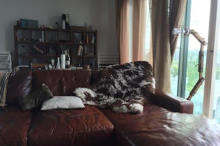 Huge, super-comfy leather sofa! - Apartment