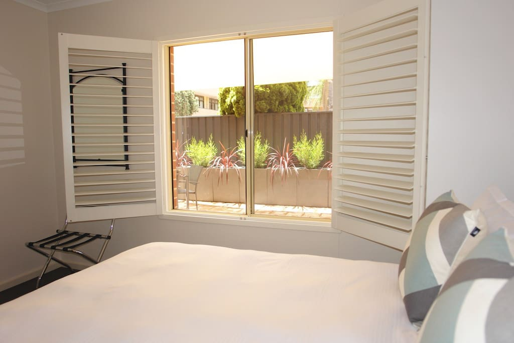 View from main bedroom over your private shaded courtyard