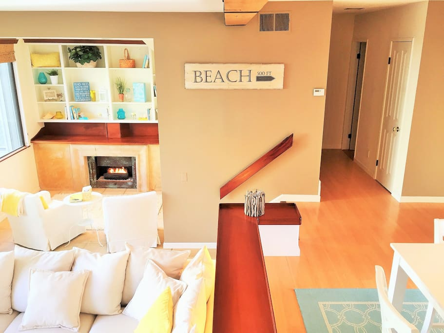 Comfortable living area to relax after a day at the beach