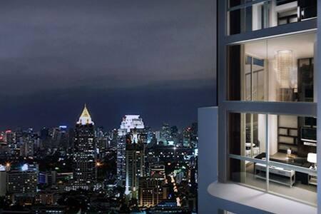 25th Flr. 1BR+WiFi and cable TV in the city center - Bangkok - Apartamento