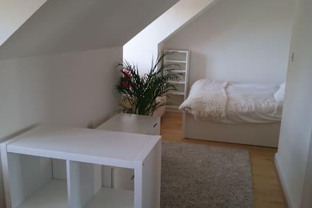 A spaceous king-size bedroom+study near Cambridge - Oakington - Bed & Breakfast