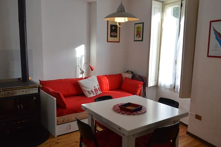 cozy apartment in the center of Cesana Torinese - Lejlighed