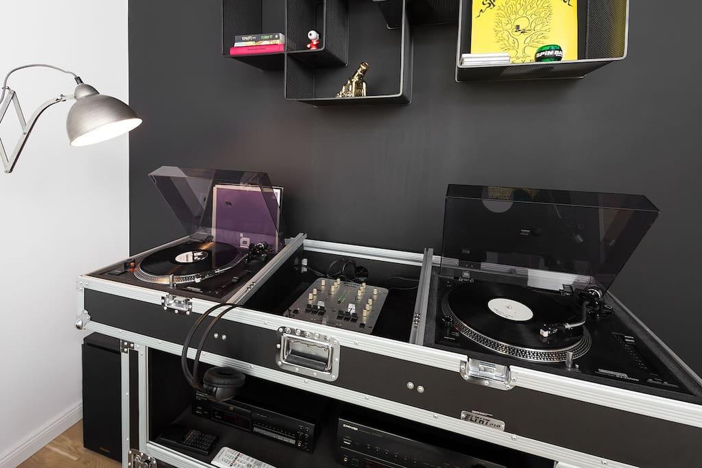 Living room - detail DJ Set