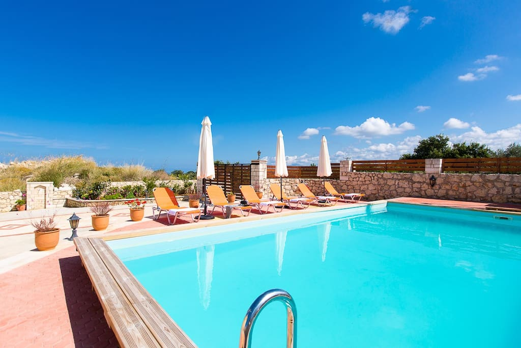 Sun beds, umbrellas and an outdoor shower are available at the pool terrace!
