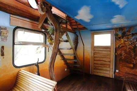 Doppelstock Ferienhaus auf Schienen - Train