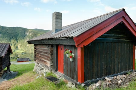 Hytte med utsikt og gratis fiske - Hol