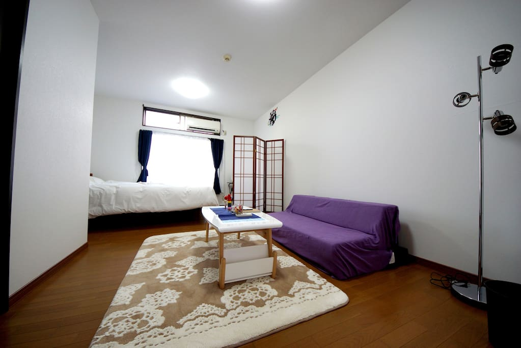 Fully furnished living /bed room