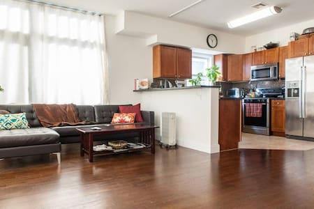 NYC in mins! Spacious Master Bed/Private Bath/View - Apartamento