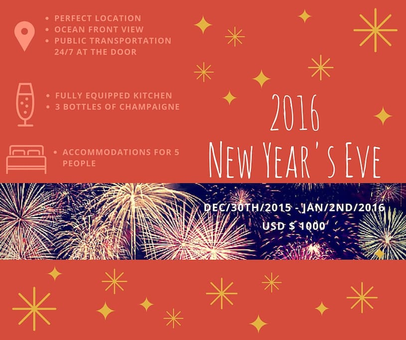New Year's Eve Deal for 2016. USD$1000 for 4 nights. (USD$250 less than last year. )