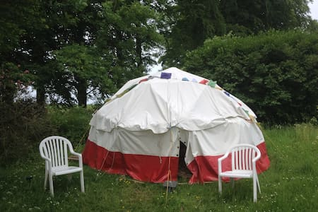 Geodesic Dome tent on the Cotswold Way, with stove - Iurta