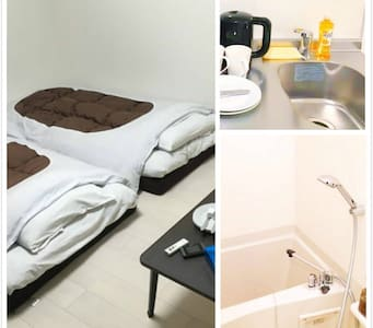 6 min to NAMBA!surrounded by restaurats.Free wifi. - Appartement