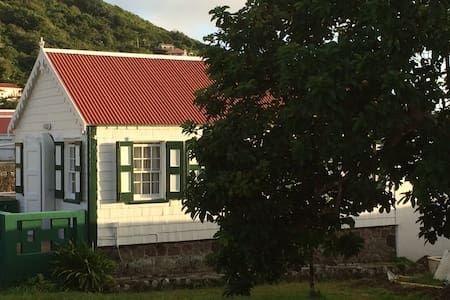 Traditional Saban Wooden Cottage - Windward Side - House