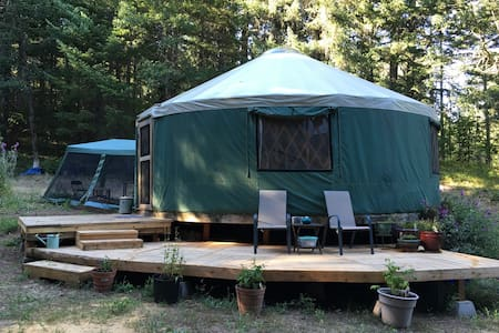 Glamping in a Peaceful Yurt tucked in the forest - White Salmon