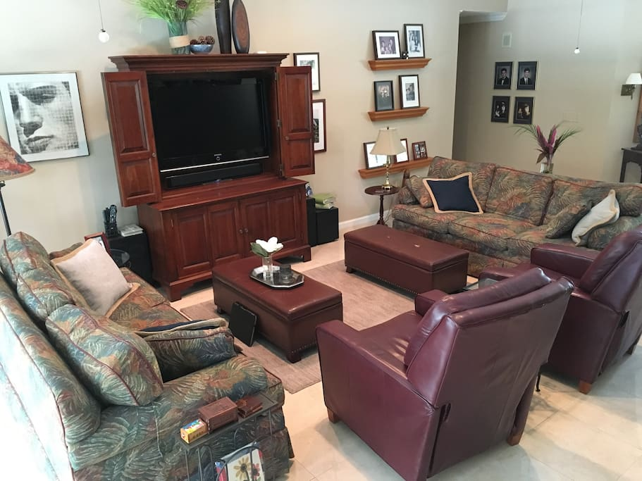 Living area with 46 inch HDTV